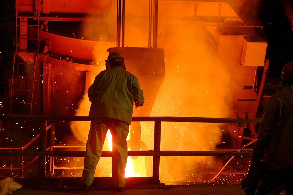 Exkursion zum Stahlwerk