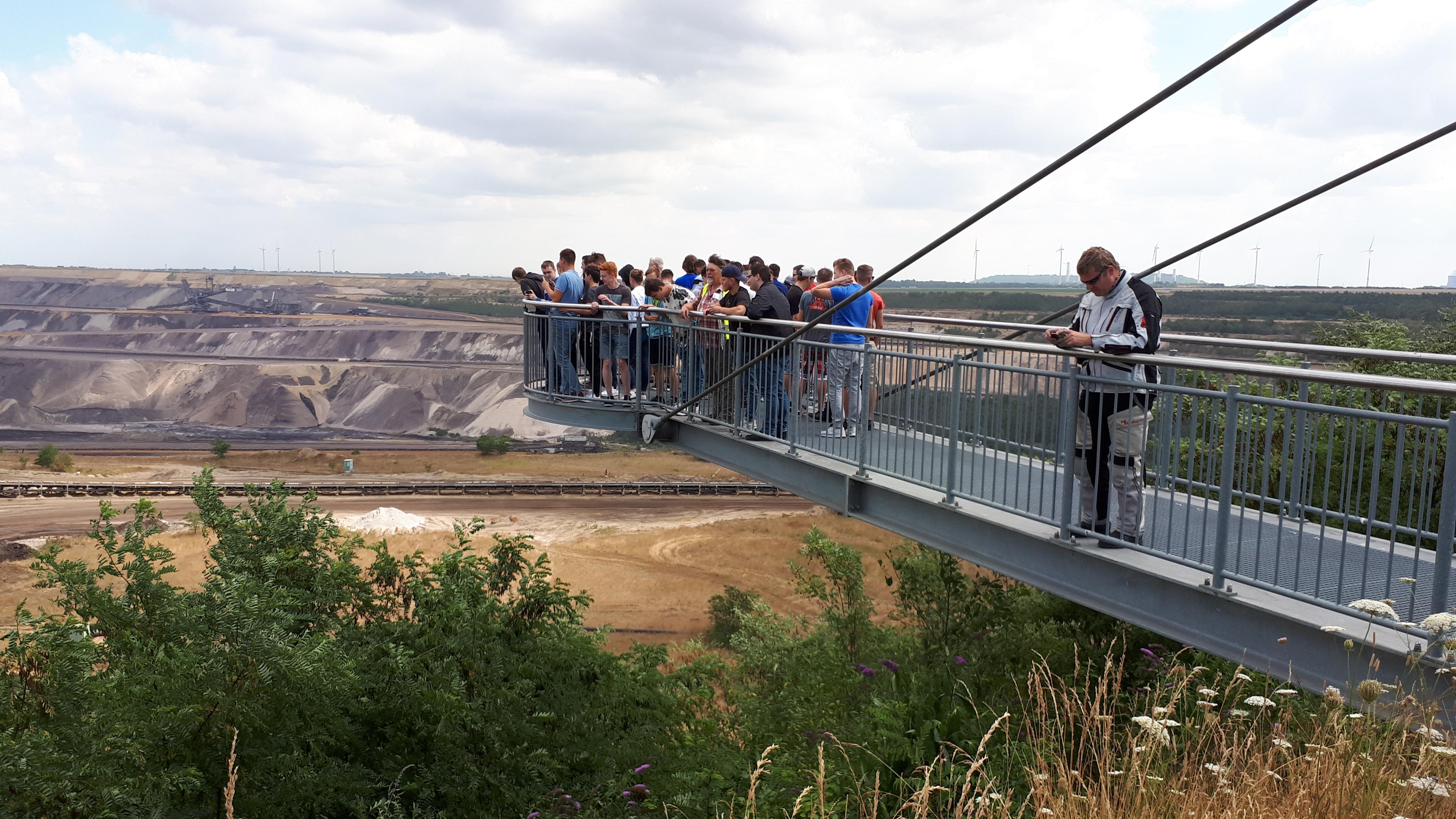 Exkursion der FOS11T, Mechatroniker- und Metallbaueroberstufe zum Tagebau Gartzweiler