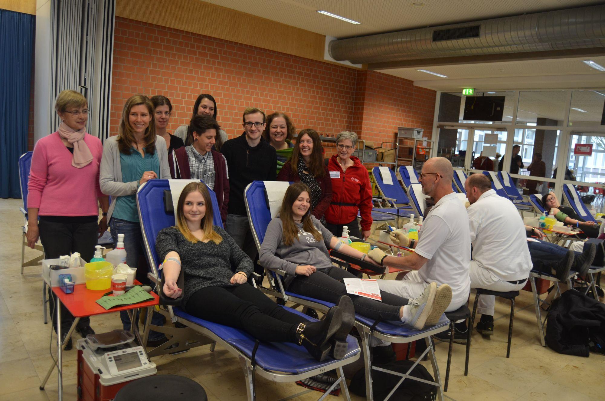 Blutspendenaktion der Geilenkirchener Berufskollegs 2018