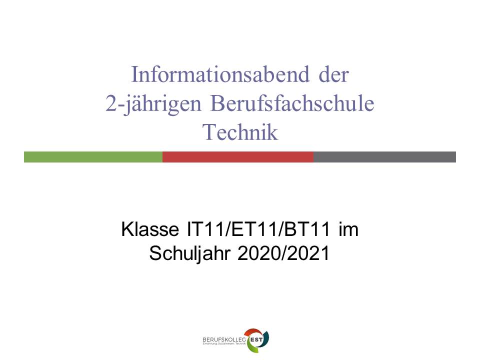 Informationsvideo 2-jährige Berufsfachschule Technik