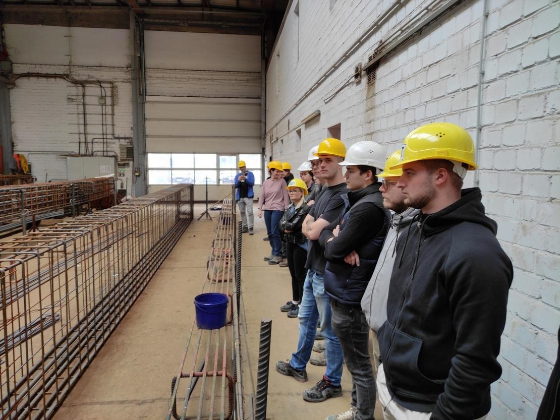 Bauzeichner-Oberstufe - Betriebsbesichtigung im Fertigteilwerk